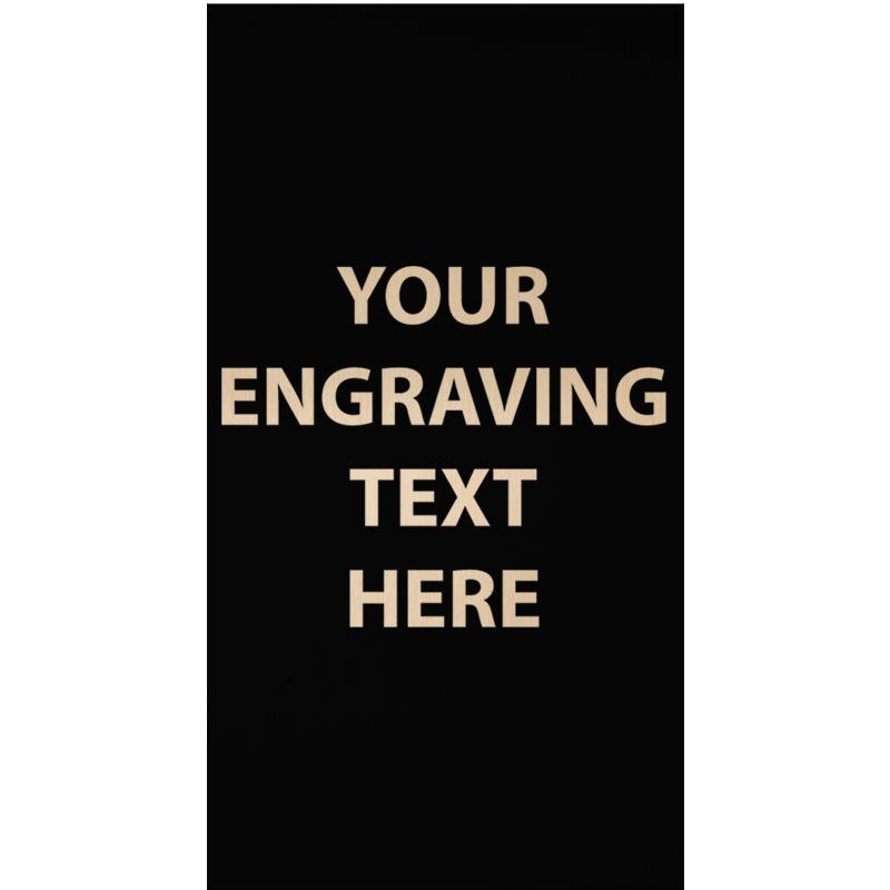 """ENGRAVE PLATE 1.75""""W X 3.25""""H"""