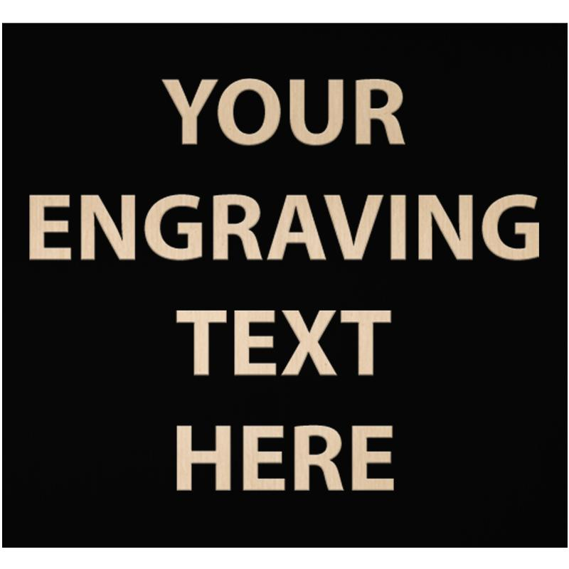 """ENGRAVE PLATE 3.50""""W X 3.25""""H"""