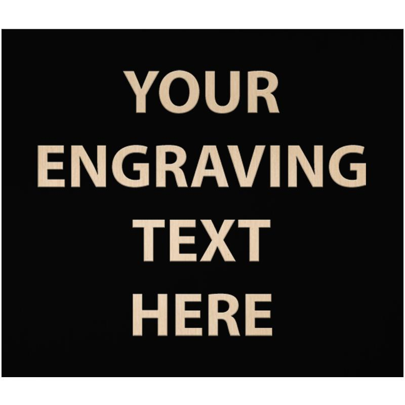 """ENGRAVE PLATE 3.75""""W X 3.25""""H"""