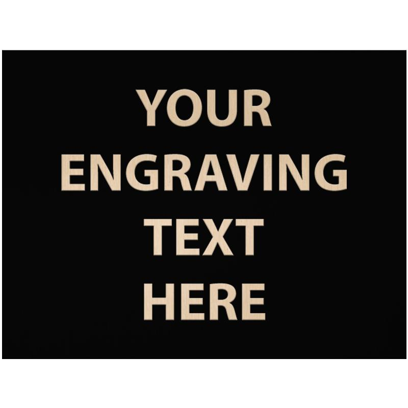 """ENGRAVE PLATE 4.25""""W X 3.25""""H"""