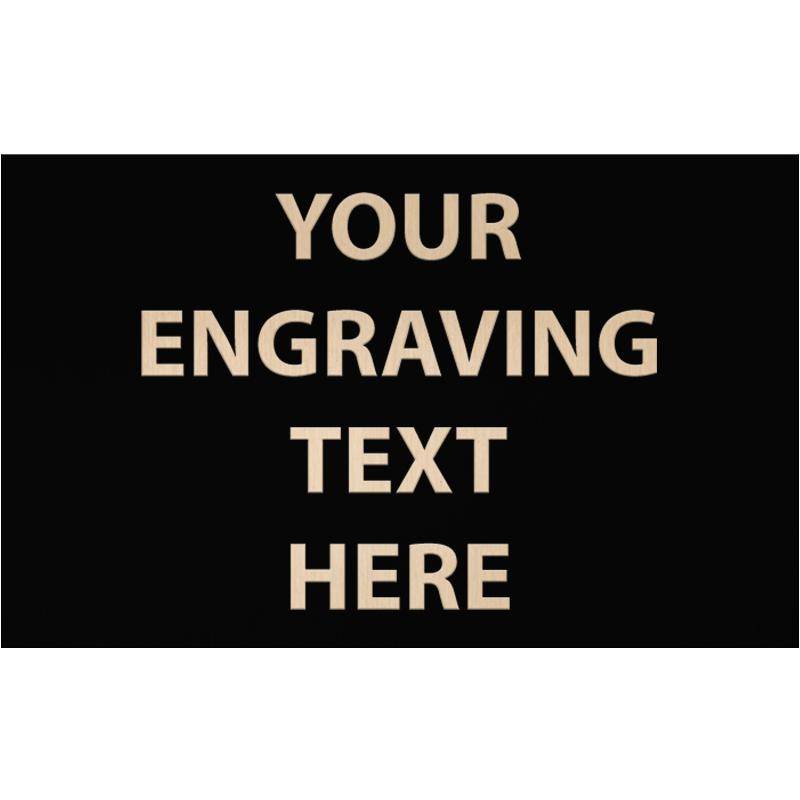 """ENGRAVE PLATE 5.25""""W X 3.25""""H"""