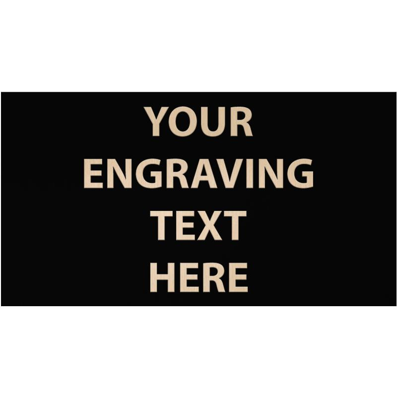 """ENGRAVE PLATE 6""""W X 3.25""""H"""