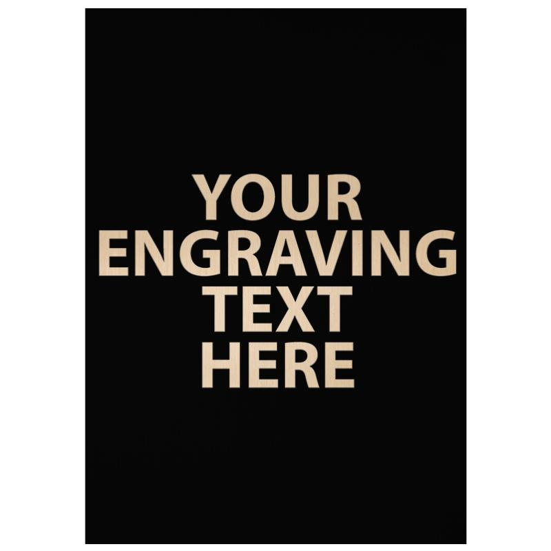 """ENGRAVE PLATE 4.25"""" X 3"""""""