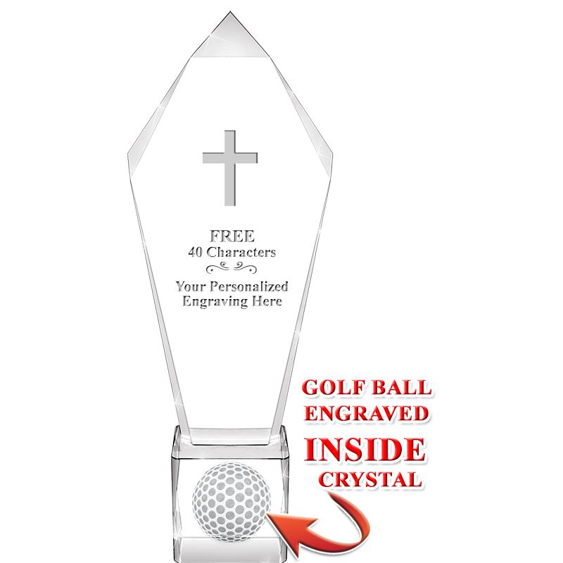 "11"" ACE GOLF BALL CRYSTAL"