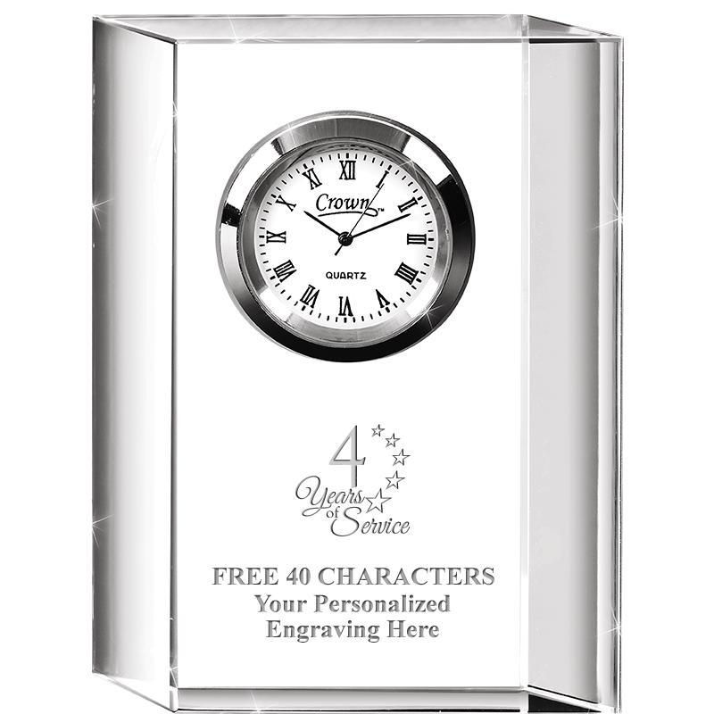 Colleague Crystal Clock