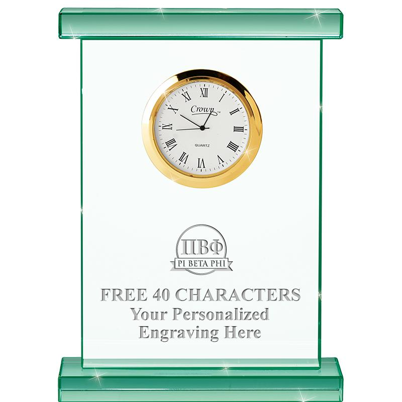 "7"" JADE OXFORD CRYSTAL CLOCK"