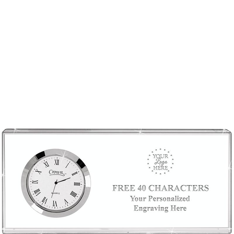 7X3 DESK CLOCK NAMEPLATE CRYST