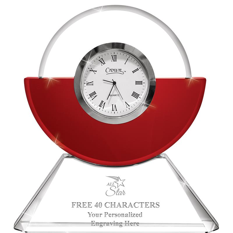 Everlasting Ruby Crystal Clock