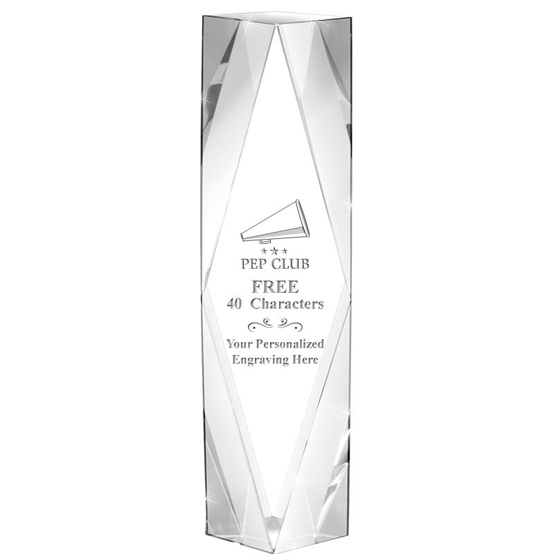 "8"" GEMINI CRYSTAL AWARD"