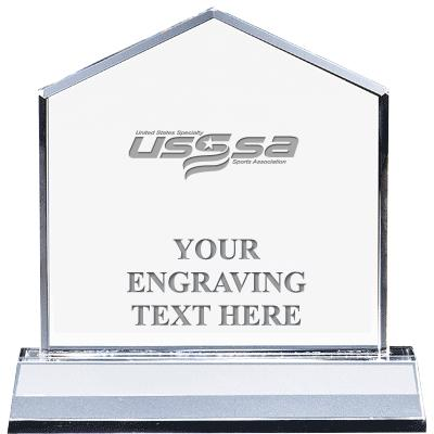 """6"""" USSSA HOMEPLATE CRYSTAL"""