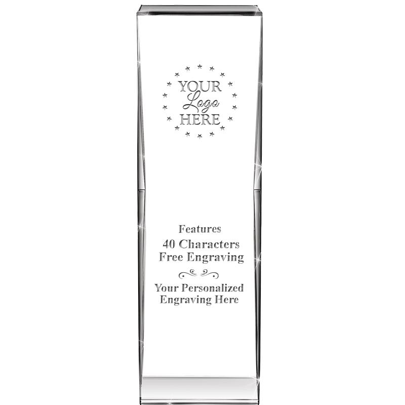 "8"" IMPACT CRYSTAL AWARD"