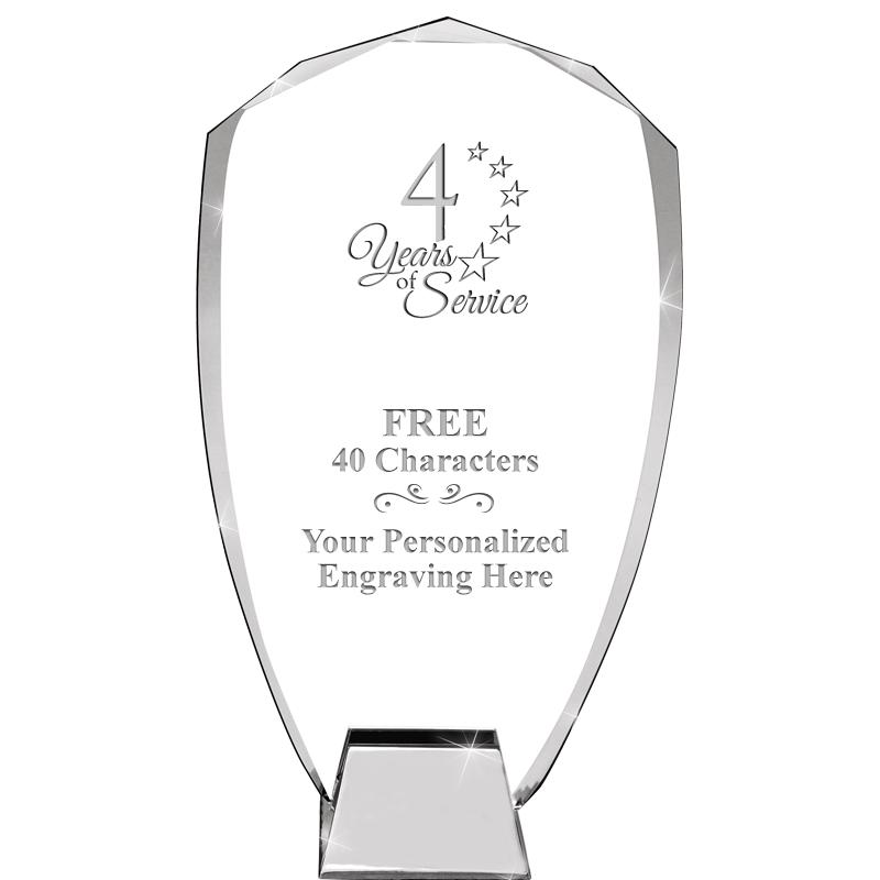 "8.5"" SHIELD ICONIC CRYSTAL"