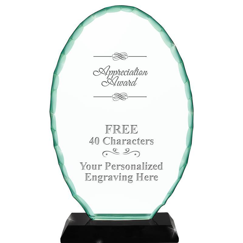 Jade Oval Crystal Award
