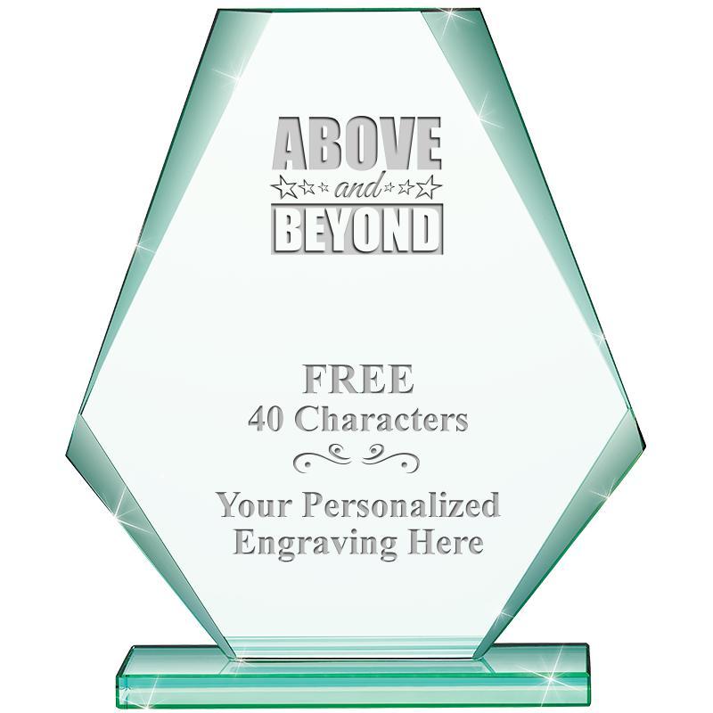 """6"""" JADE PYRAMID CRYSTAL AWARD"""