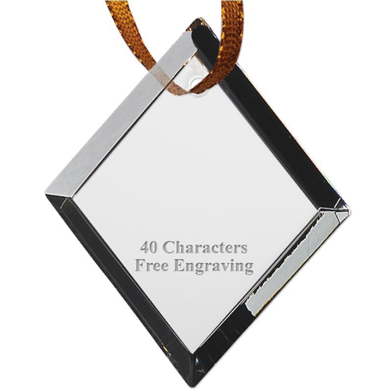 DIAMOND CRYSTAL ORNAMENT-STOCK