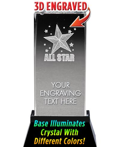 ALL STAR LASER CUT CRYSTAL AWA