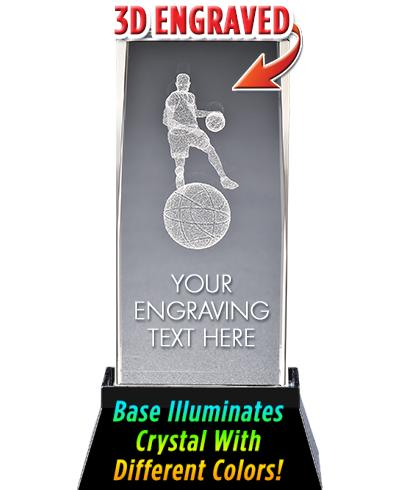 Basketball Male Crystal Trophy