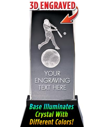 Baseball Crystal Trophy