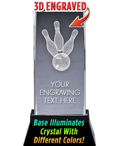 Bowling Crystal Trophy