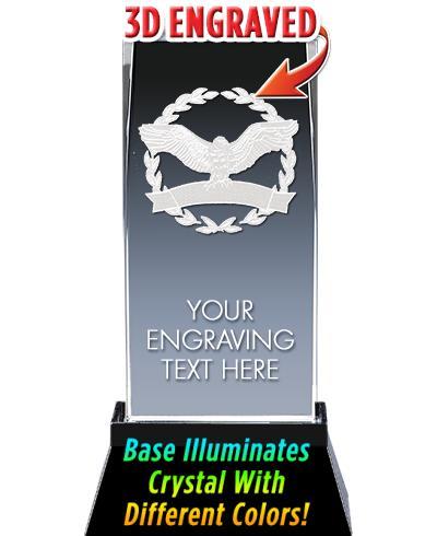 Eagle Crystal Trophy