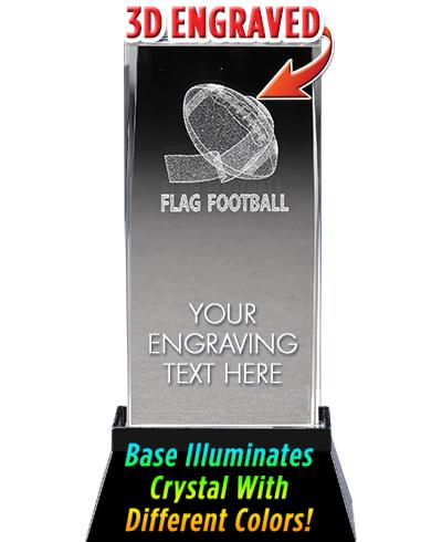 FLAG FOOTBALL LASER CUT CRYSTA
