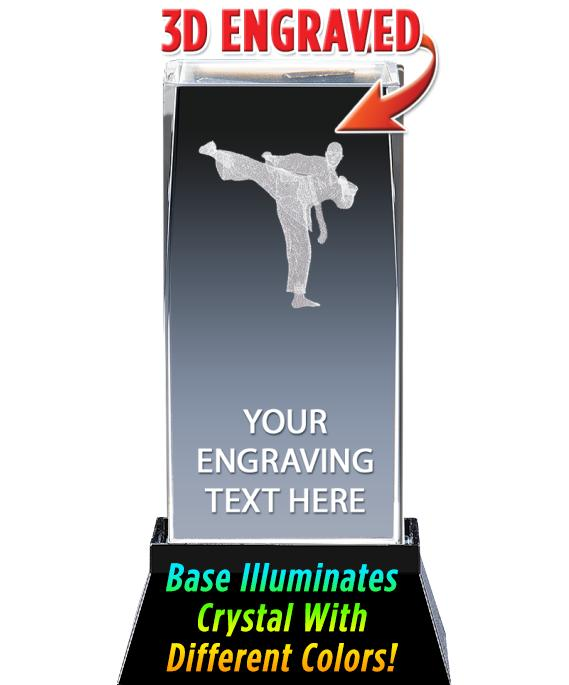 "4.5""MARTIAL ARTS LASER CRYSTAL"