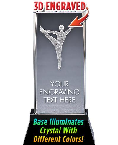 Gym Male Crystal Trophy