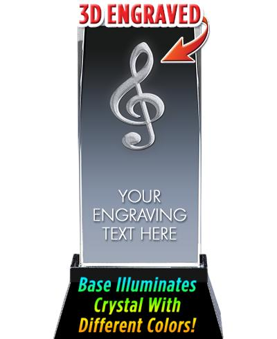 MUSIC LASER CUT CRYSTAL AWARD