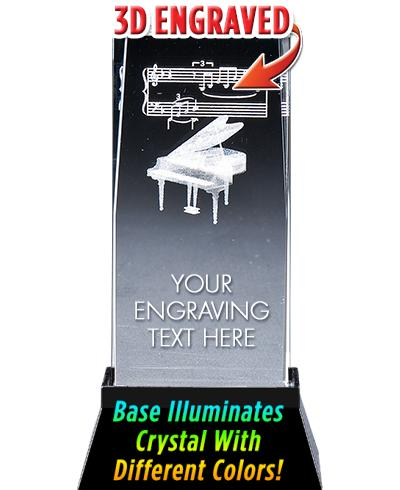 Piano Crystal Trophy