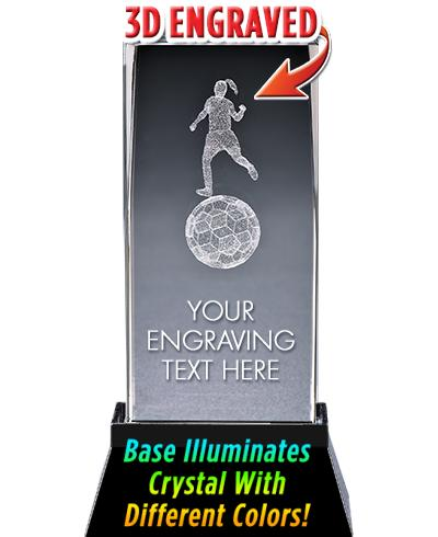 Soccer Female Crystal Trophy