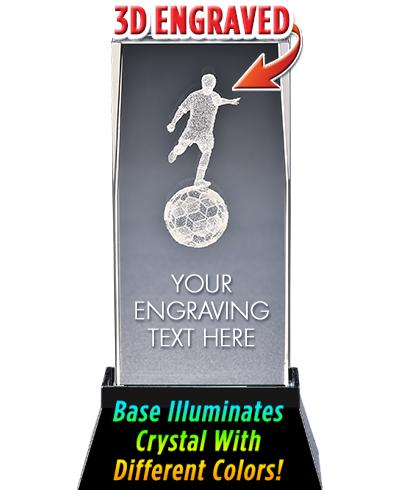 Soccer Male Crystal Trophy