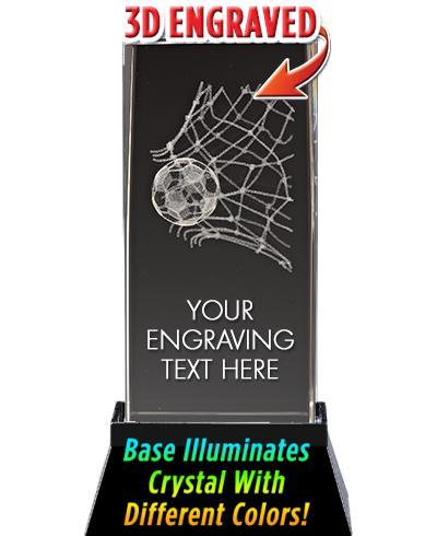 Soccer Net Crystal Trophy