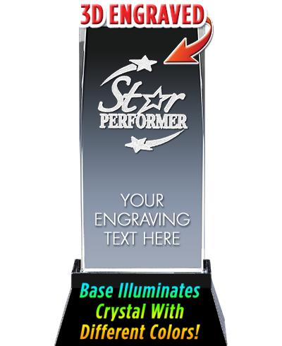 Star Performer Crystal Trophy