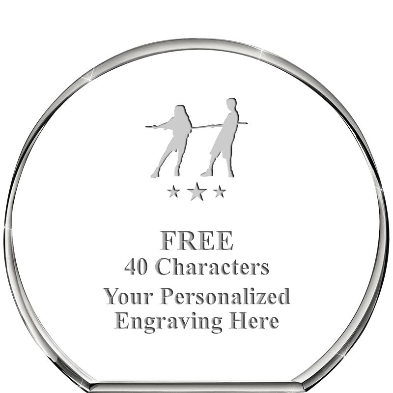 """4""""STANDING CIRCLE PAPERWEIGHT"""