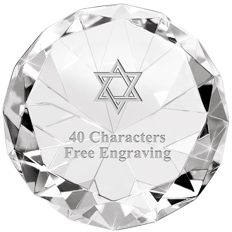 CLEAR 80CT DIAMOND PAPERWEIGHT