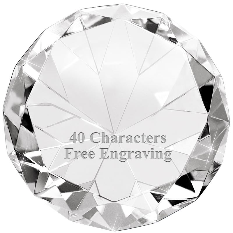 GLPWDMCLCT DIAMOND PAPERWEIGHT