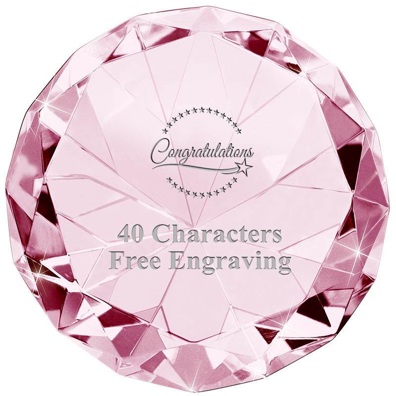 PINK 80CT DIAMOND PAPERWEIGHT