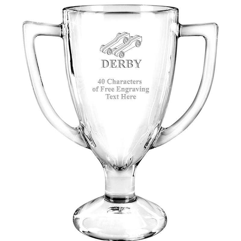"7"" WINNER GLASS TROPHY"