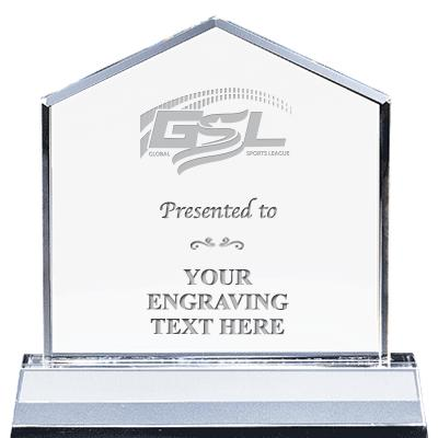 "6"" GSL CRYSTAL HOMEPLATE AWARD"