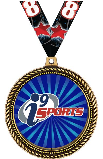 """2 1/2""""  i9 Sports Honorable Insert Medals"""