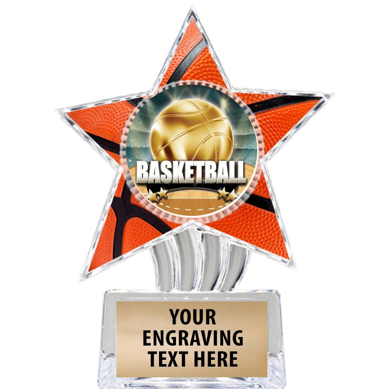"6"" Basketball Cosmic Icicle Star Insert Trophy"