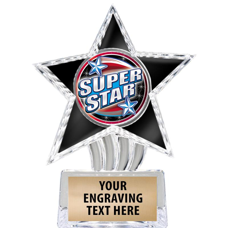 """6"""" Black Cosmic Icicle Star Insert Trophy"""