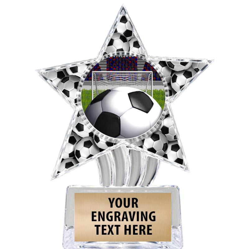 """6"""" Soccer Cosmic Icicle Star Insert Trophy"""