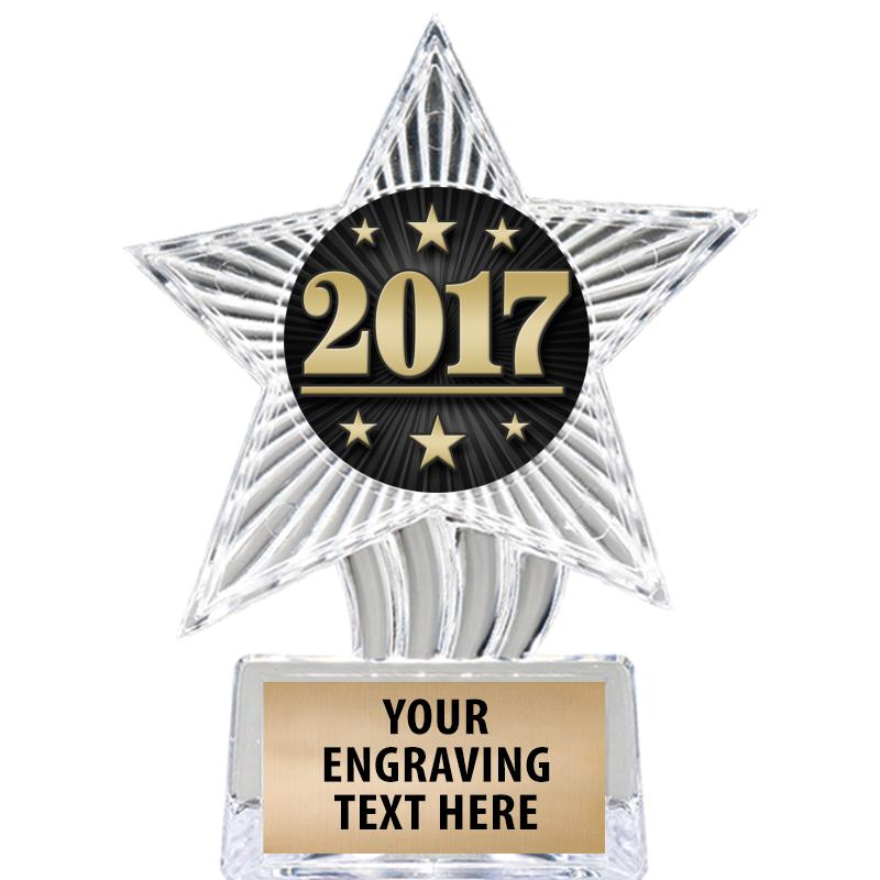 """6"""" Clear Cosmic Icicle Star Insert Trophy"""
