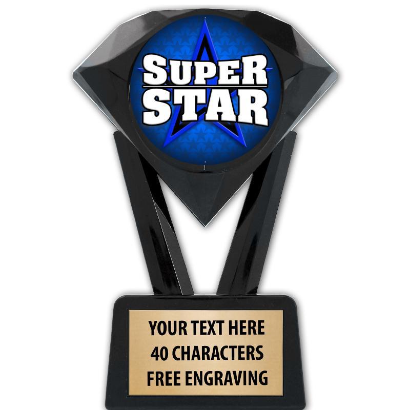 "5 3/4"" Black Diamond Icicle Insert Trophy"