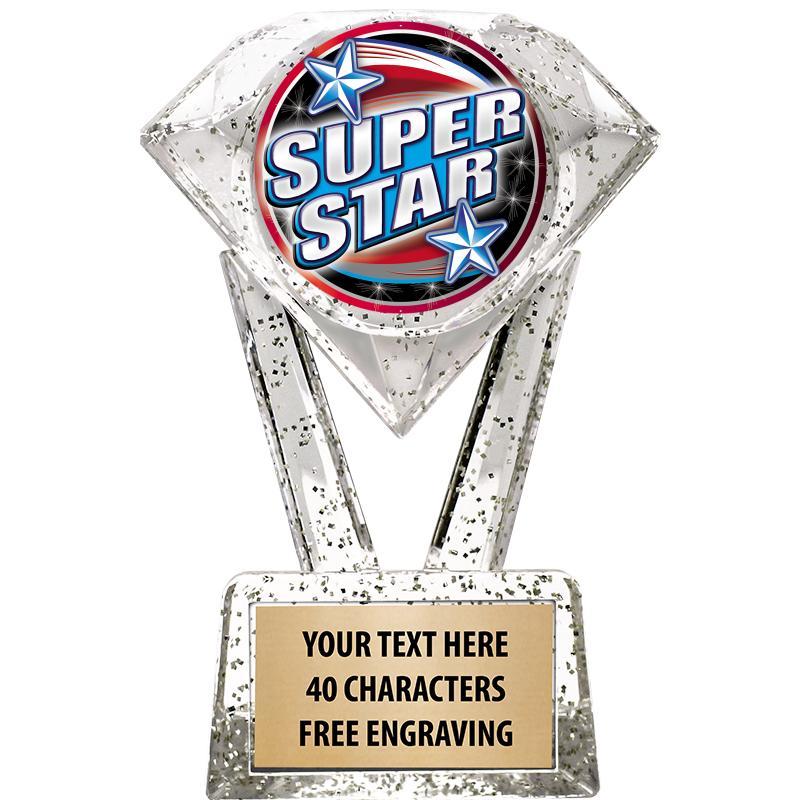 "5 3/4"" Glitter Diamond Icicle Insert Trophy"