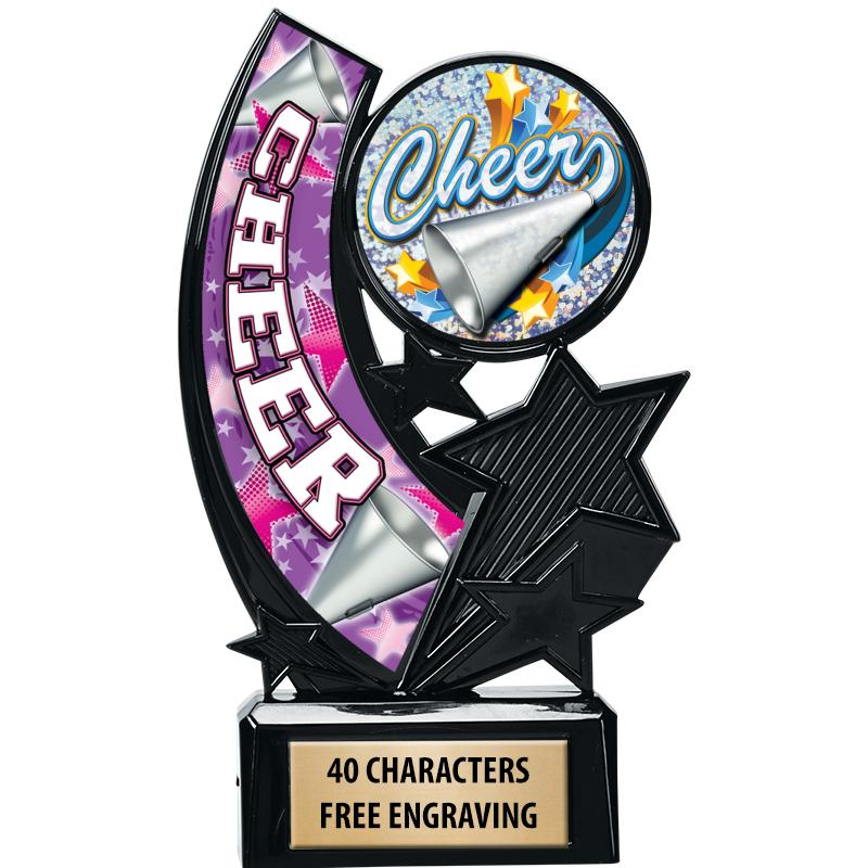 """6.25""""ONYX ICICLE INSERT TROPHY"""