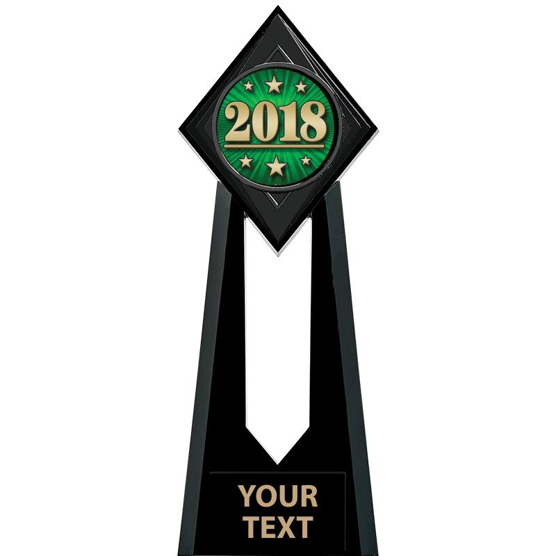 """6"""" & 9"""" Paragon Onyx Icicle Insert Trophies"""
