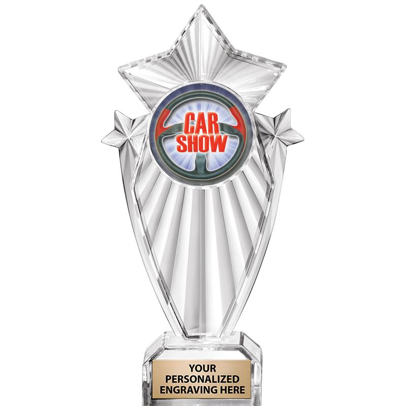 "8""CLEAR STARGRAM ICICLE TROPHY"
