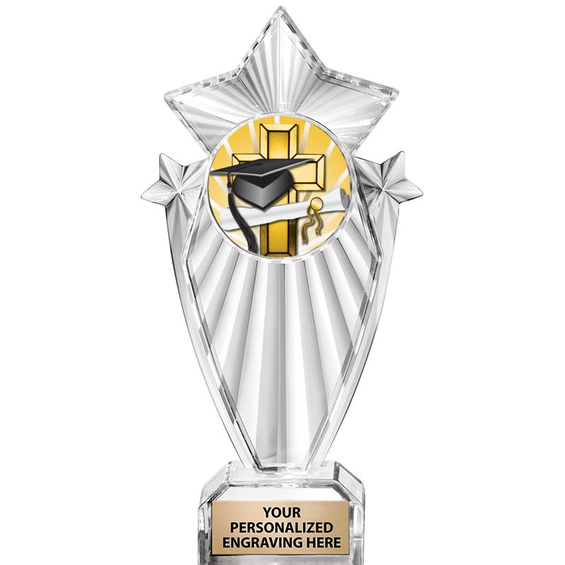 """8""""CLEAR STARGRAM ICICLE TROPHY"""